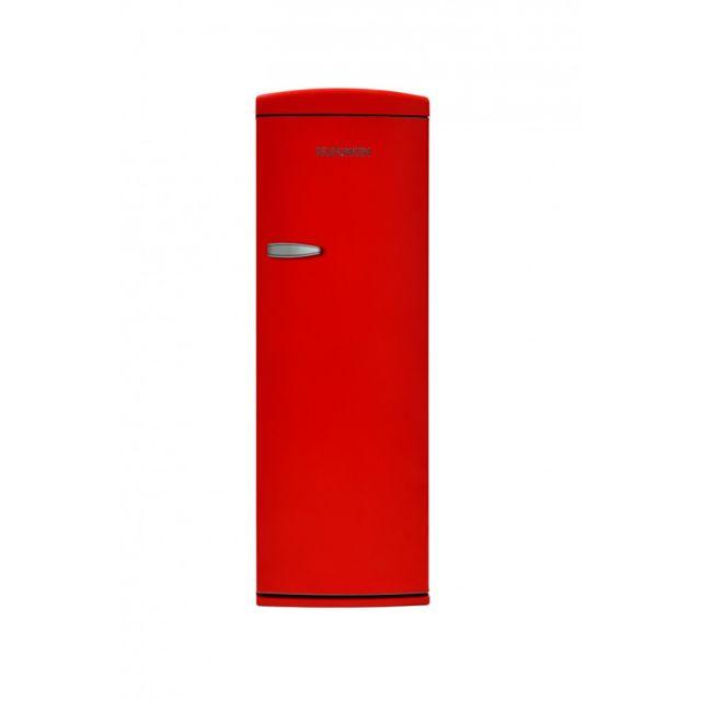 Telefunken Tfnvin311RED Réfrigérateur 1 porte vintage Rouge 311L