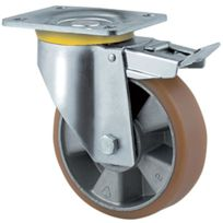 Tente - Roulette Manutention Forte Charge - Type: Piv.ac blocage - Ø roue mm:125 - Haut. mm:164 - Charge kg:500