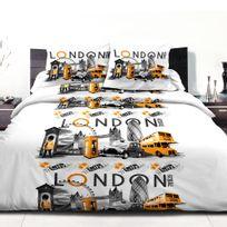 Home Deco - Parure de couette 220X240 polycoton London city