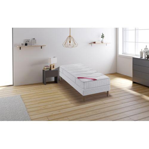 relaxima hemisphere ensemble sommier matelas m moire de forme dunlopillo 90x200 blanc pas. Black Bedroom Furniture Sets. Home Design Ideas