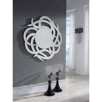 Ma Maison Mes Tendances - Miroir rond en verre Manda - L 120 x l 119.5