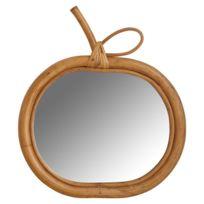 Aubry Gaspard - Miroir Pomme en Rotin 31 cm