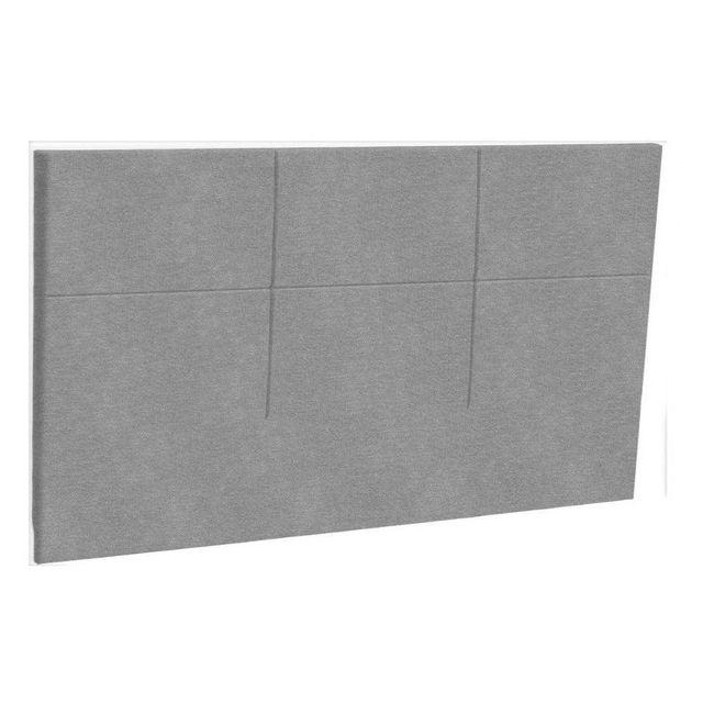 inside 75 t te de lit chic epeda tissu piqu gris clair pas cher achat vente t tes de lit. Black Bedroom Furniture Sets. Home Design Ideas