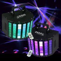 Ibiza Light - Pack De 2 Effets Rgbw Led Butterfly-rc Ibiza Pa Dj Led Sono