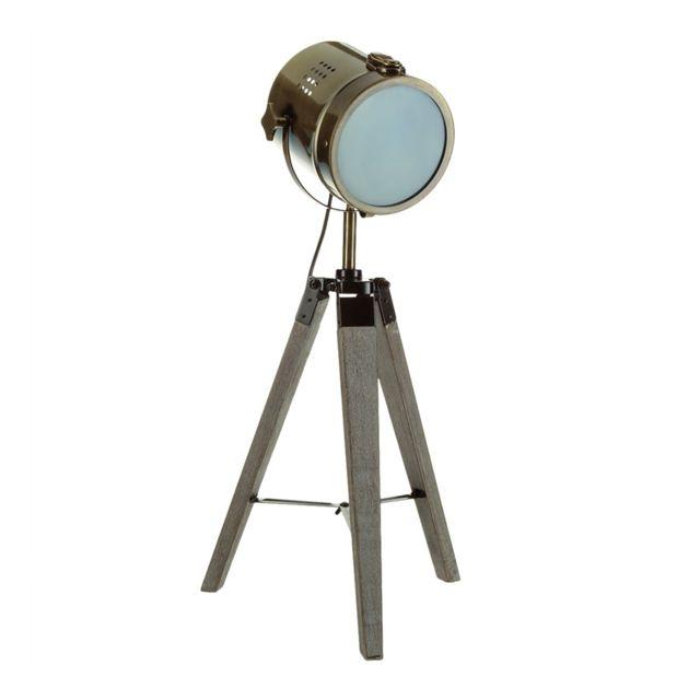 atmosphera lampe projecteur cin ma 68cm gris pas cher achat vente lampes poser. Black Bedroom Furniture Sets. Home Design Ideas