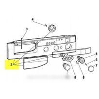 Hotpoint-Ariston - Tableau de bord + poignee complet pour lave linge ariston