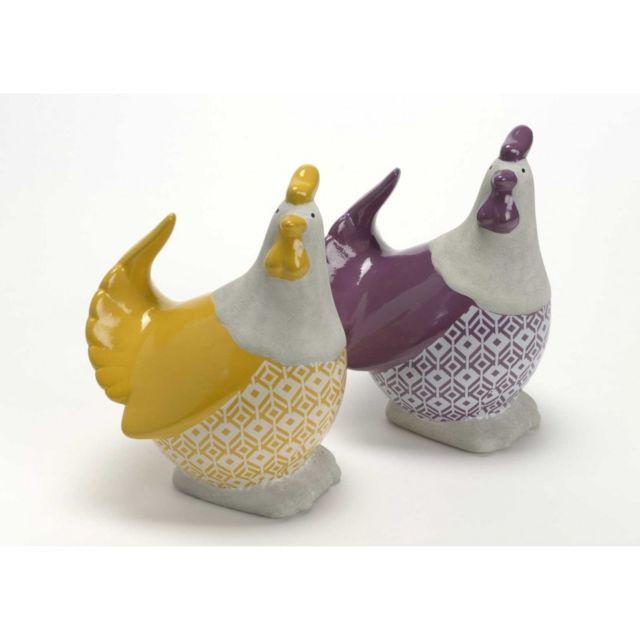 Amadeus Poules Graphik jaune/violette Gm