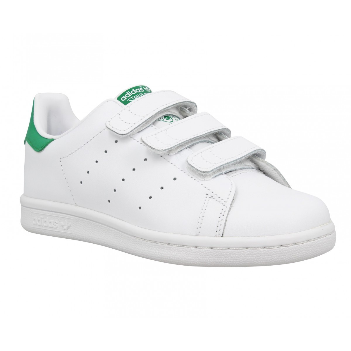 Stan Smith Ii cuir Enfant-30-Blanc + Vert