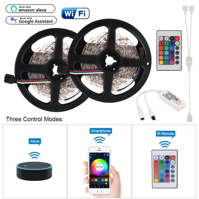 /éclairage int/érieur El-Wire LETRONIX /Éclairage dambiance LED RVB avec application Bluetooth