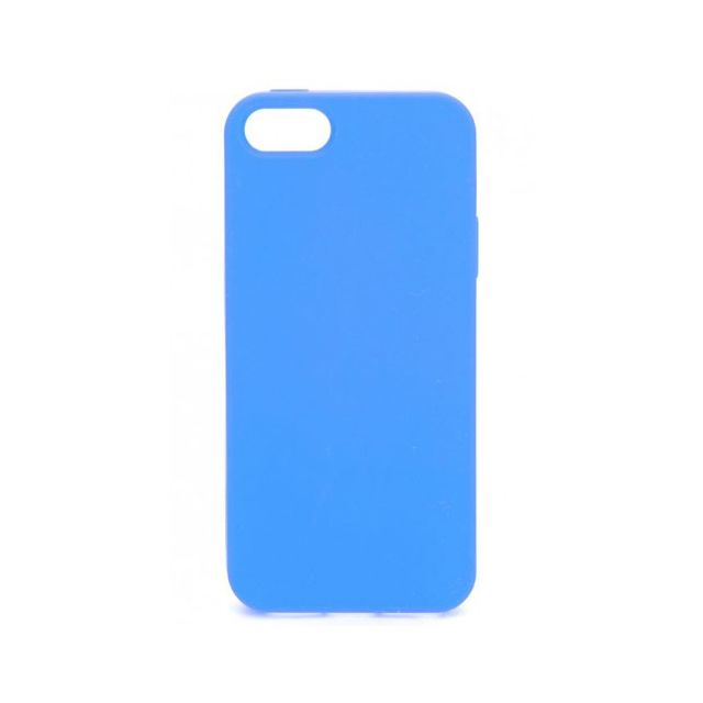 coque iphone 5 silicone bleu
