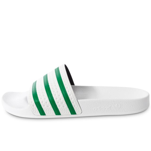 Adidas originals - Adilette Blanche Et Verte - Sandales