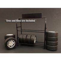 American Diorama - Metal Tire Rack Range Pneus 1/18 - Ad-77518
