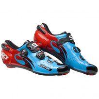 Sidi - Wire Carbon Bleue Et Rouge Chaussures Vélo route