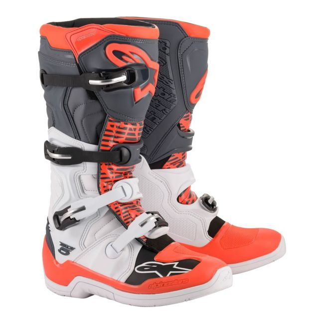 Bottes Moto Cross Tech 5 White Grey Red Fluo 51