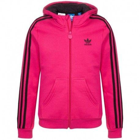 Adidas originals Veste à capuche Teddy Fur Rose Fille