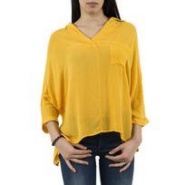 Bsb - tee shirt manches longues 037-216007 jaune