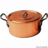 BAUMALU - faitout cuivre 22cm avec couvercle - 204012