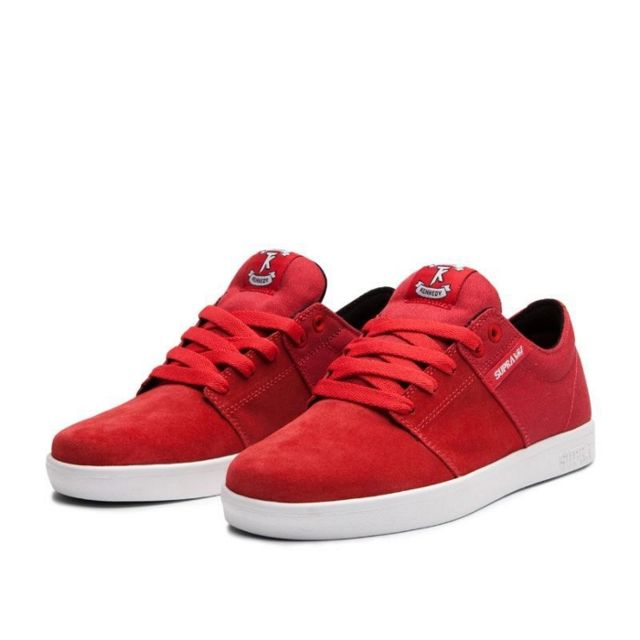 Baskets Homme Shoes Stacks Red White