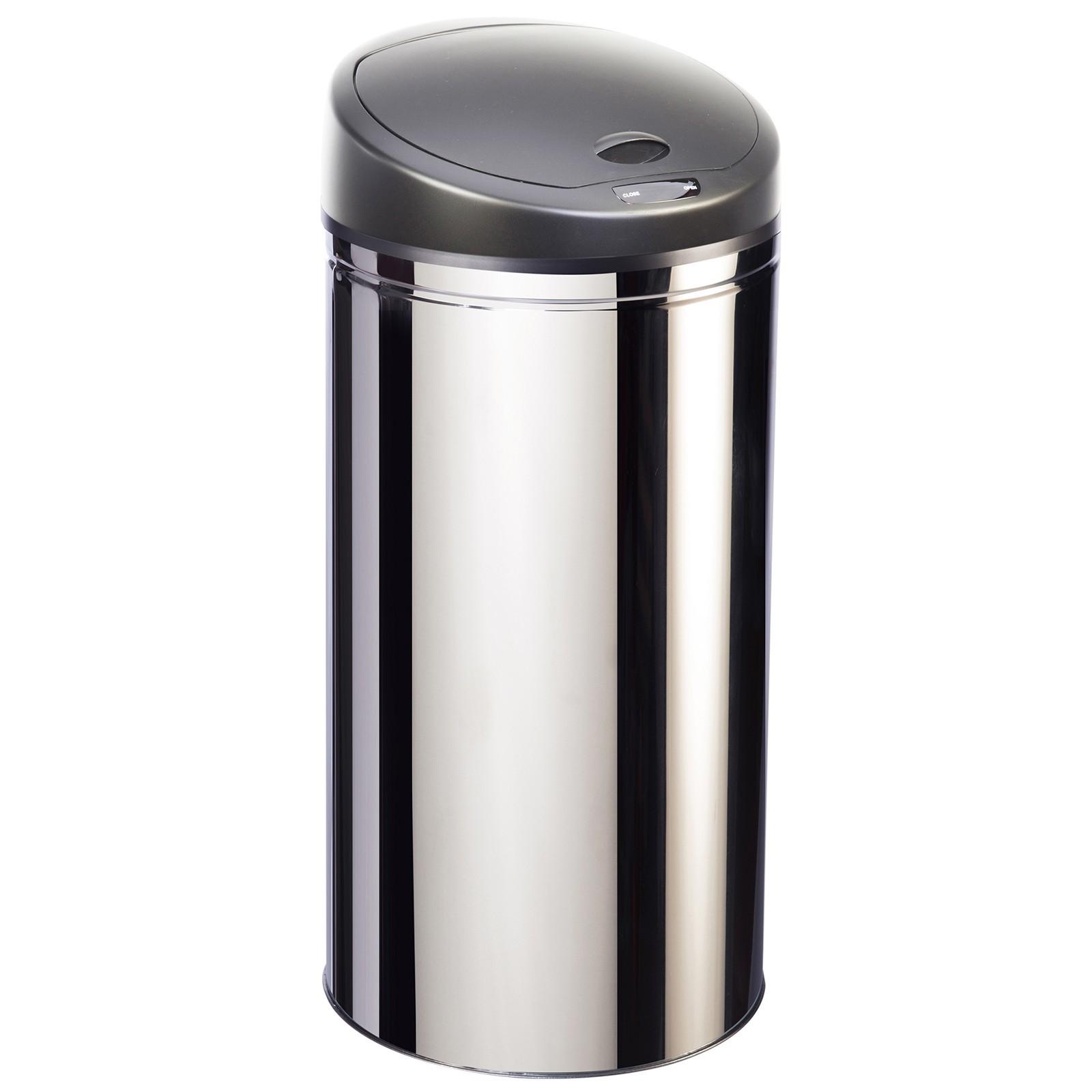 poubelle à ouverture automatique en inox 50l - upsense inox 50l