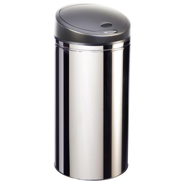 ROBBY poubelle à ouverture automatique en inox 50l - upsense inox 50l