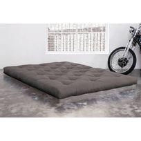 Inside 75 - Matelas Futon Confort gris 120 200 15cm