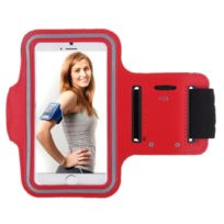 Shot - Brassard Sport Universelle Smartphone 4.5' pouce Housse Etui Coque Taille 3 ROUGE