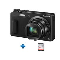 PANASONIC - Pack Amateur TZ57 noir + Carte SD 16Go