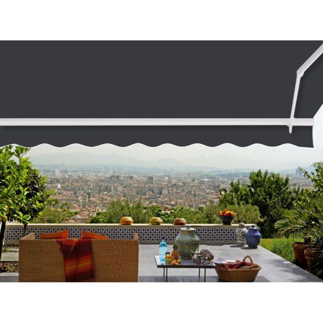 ici store toile de remplacement 4 x 3 m pour store banne dickson anthracite pas cher achat. Black Bedroom Furniture Sets. Home Design Ideas