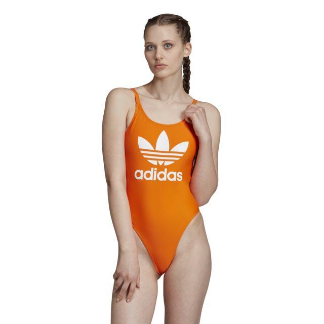 Adidas Maillot de bain femme Trefoil pas cher Achat