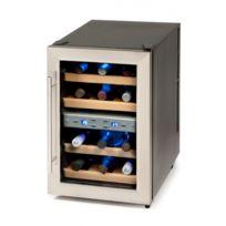 Domo - Cave à vin 12 bouteilles - 2 zones de température - Etagères bois - Silencieux, sans vibrations