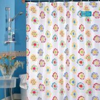 Msv - Rideau de douche polyester 180 x 200 cm multi couleurs