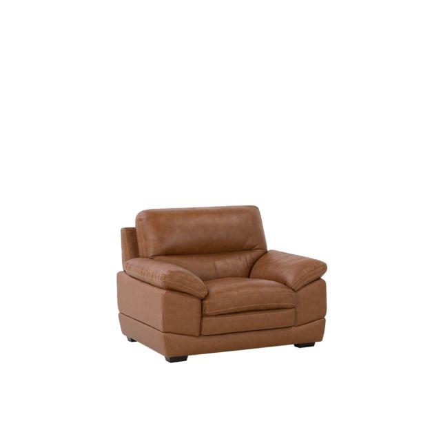 BELIANI Fauteuil en simili-cuir marron HORTEN - marron