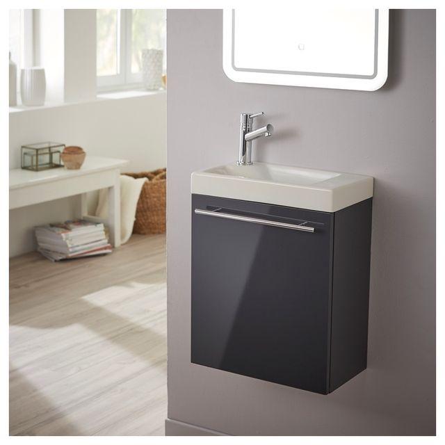 Planetebain - Lave-mains complet avec meuble design couleur gris ...