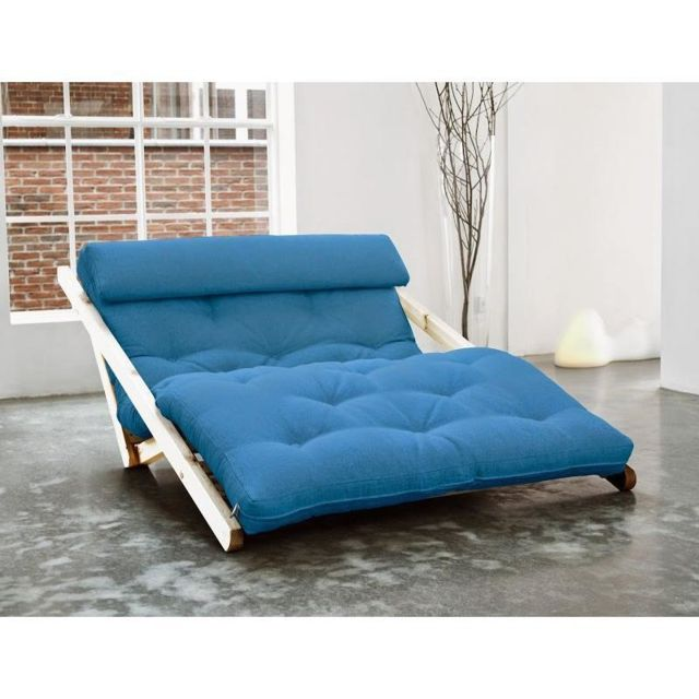 Convertible Longue Chaise Scandinave Figo Futon Style Inside 75 H92WDIeEYb