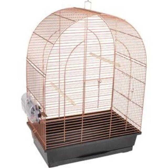 Flamingo Cage à oiseaux Klara 2 Cuivre 45x28x62,5 cm