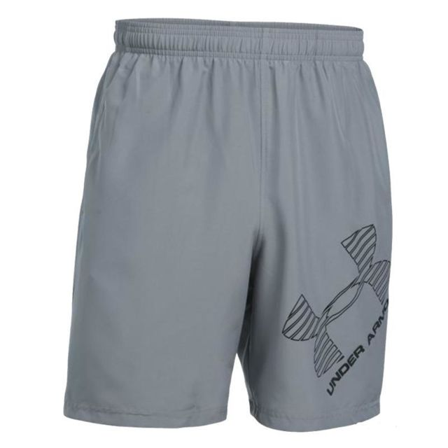 Under Armour - Short Homme Woven Gris - taille