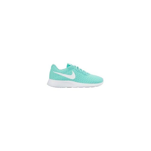 Nike Chaussures Tanjun vert blanc femme pas cher Achat   Vente