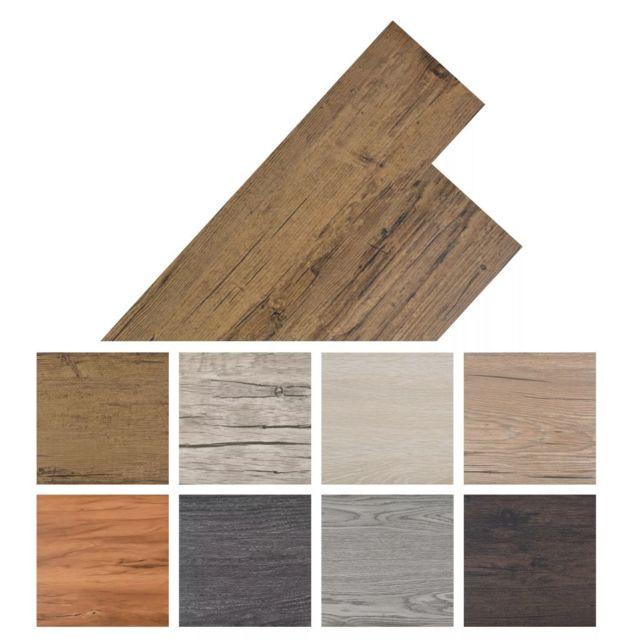 Vidaxl Planche de plancher Pvc autoadhésif 36 pcs 5,02 m² Marron   Brun