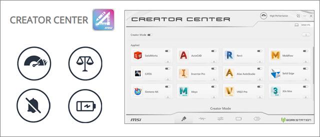 MSI WORKSTATION WS65 - Creator Center