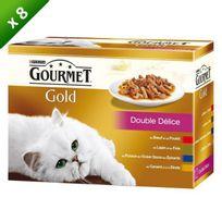 Gourmet - Gold Double Délice Multivariétés - Pour chat adulte - x8