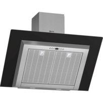 NEFF - hotte décorative inclinée 90cm évacuation/recyclage 730m3/h inox/noir - d39gl64s0