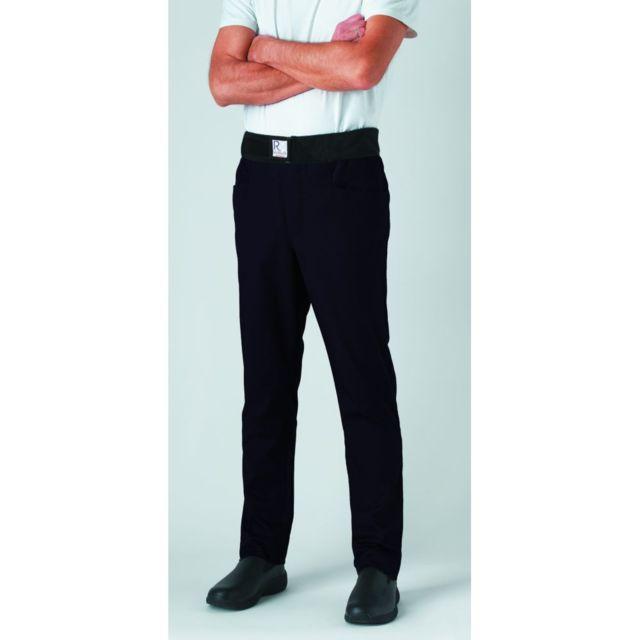 Robur Pantalon de cuisine mixte slim ceinture éponge Archet