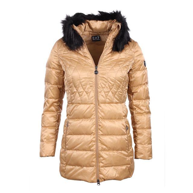 8355e071b6c9 Armani - Ea7 - Mountain - Doudoune beige femme 6XTK03 Tn02Z - pas ...