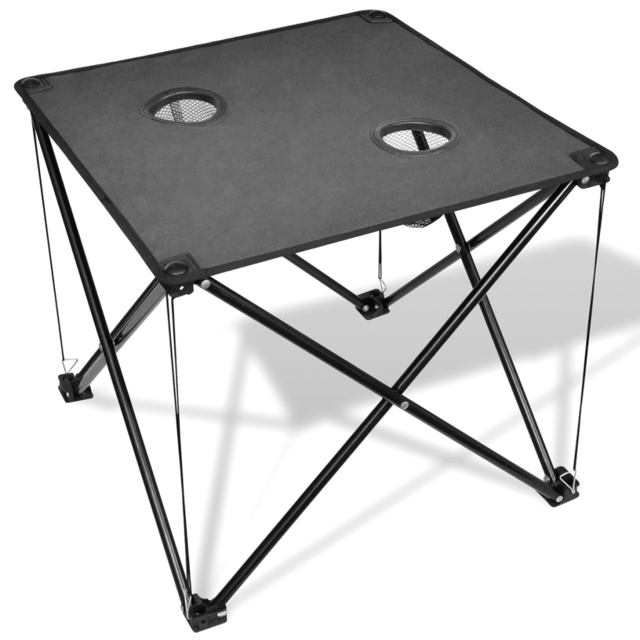 Rocambolesk - Superbe Table de camping pliante grise Neuf