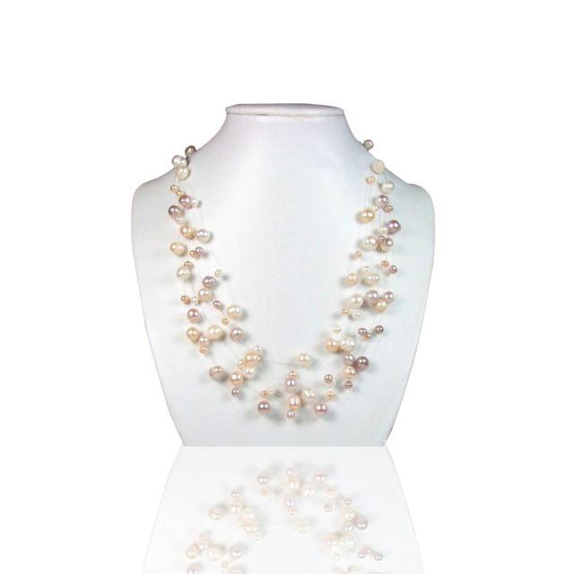 collier femme perles de culture