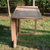 Teck'ATTITUDE - Table pliante carrée en teck Ecograde© Goa 120 x 120 cm