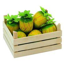 Goki - 2040787 - Jeu D'IMITATION - CommerÇANT - Ananas Dans Une Caisse De Fruits