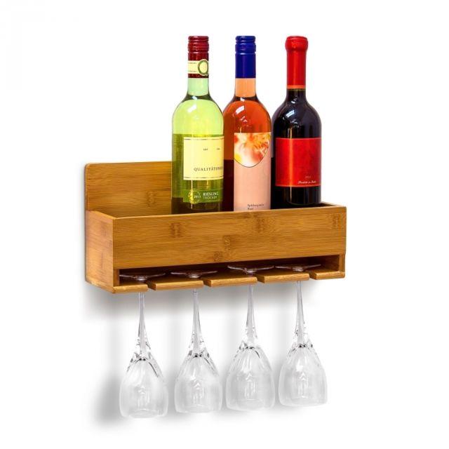 Autre Étagère à vin Porte-verres fixation murale cuisine pratique 4313027