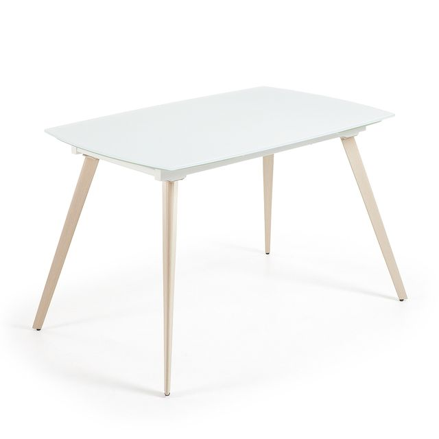 Kavehome Table extensible Smoth, 120 cm blanc