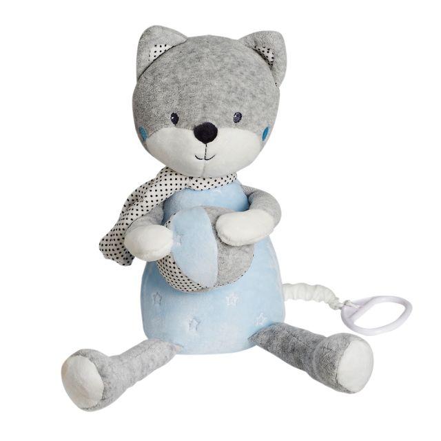 TEX BABY - Doudou musical renard - pas cher Achat   Vente Doudous ... 2f59a8a5f0a0